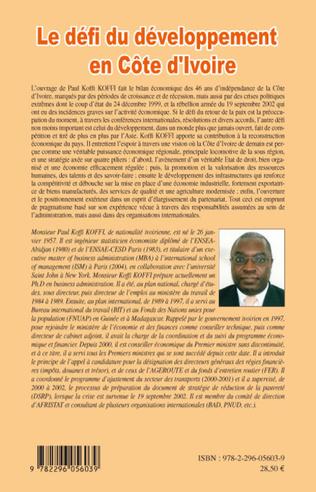 4eme Le défi du développement en Côte d'Ivoire