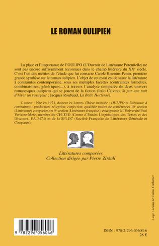 4eme Le roman oulipien