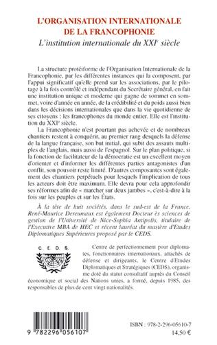 4eme L'organisation internationale de la francophonie