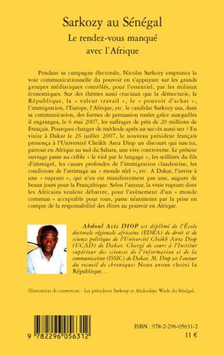 4eme Sarkozy au Sénégal
