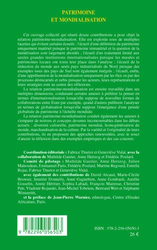 4eme Patrimoine et mondialisation