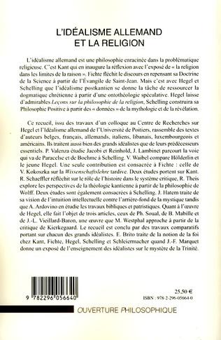 4eme L'idéalisme allemand et la religion