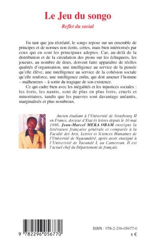 4eme Le Jeu du songo