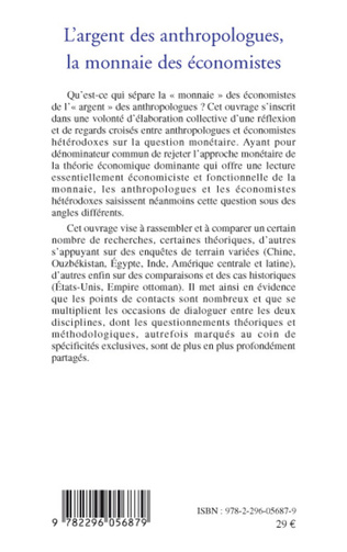 4eme L'argent des anthropologues, la monnaie des économistes