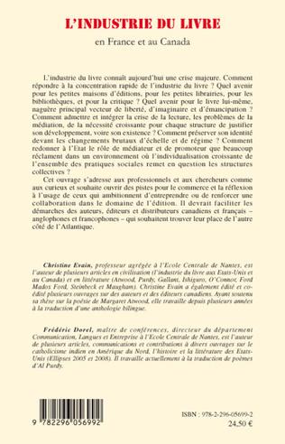 4eme L'industrie du livre en France et au Canada