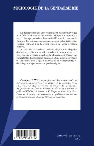 4eme Sociologie de la gendarmerie