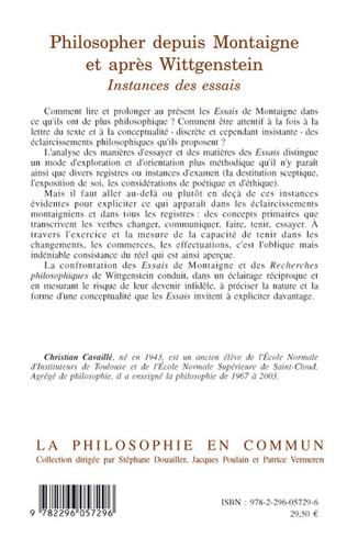4eme Philosopher depuis Montaigne et après Wittgenstein