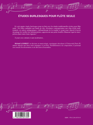 4eme Etudes burlesques pour flûte seule