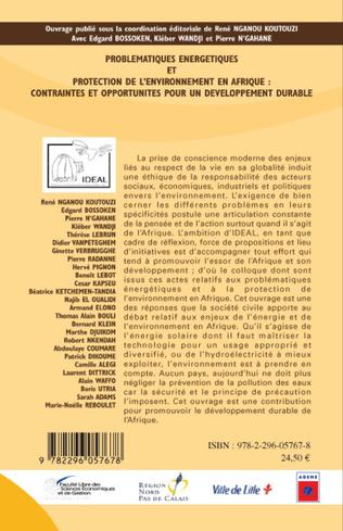 4eme Problématiques Energétiques et Protection de l'Environnement en Afrique