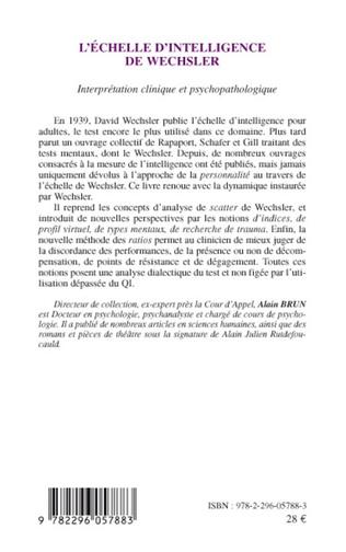 4eme L'échelle d'intelligence de Wechsler
