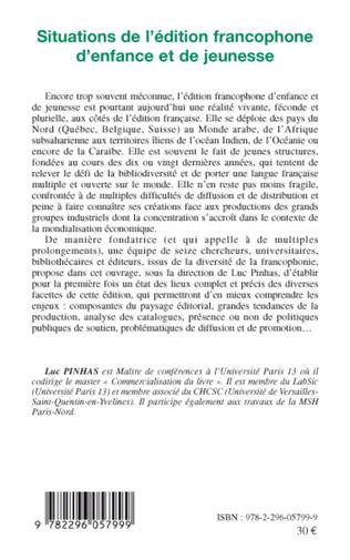 4eme Situations de l'édition francophone d'enfance et de jeunesse
