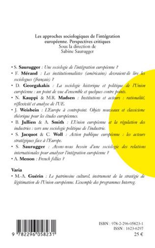 4eme Les approches sociologiques de l'intégration européenne