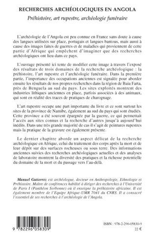 4eme Recherches archéologiques en Angola