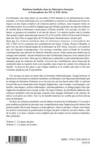 4eme Relations familiales dans les littératures française et francophone