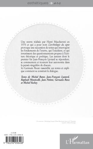 4eme Essais sur l'archéologie du signe d'Henri Maccheroni