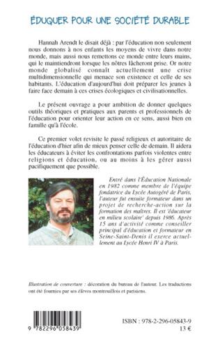 4eme Eduquer pour une société durable