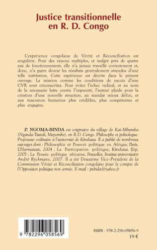 4eme Justice transitionnelle en RD Congo