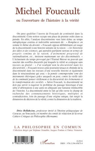 4eme Michel Foucault ou l'ouverture de l'histoire à la vérité