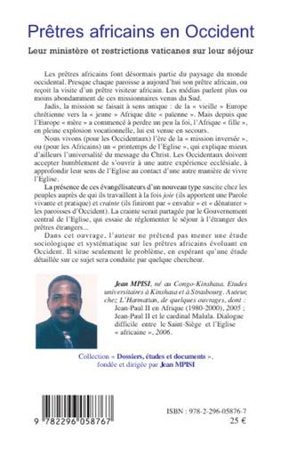 4eme Prêtres africains en Occident