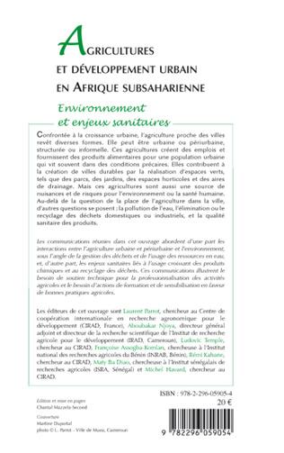 4eme Agricultures et développement urbain en Afrique subsaharienne