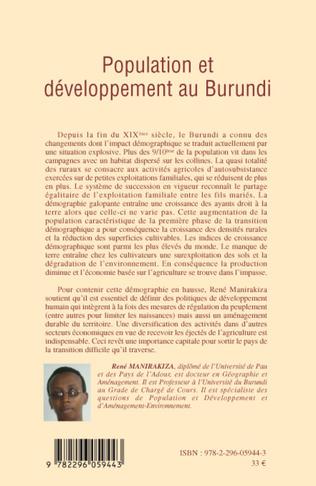 4eme Population et développement au Burundi