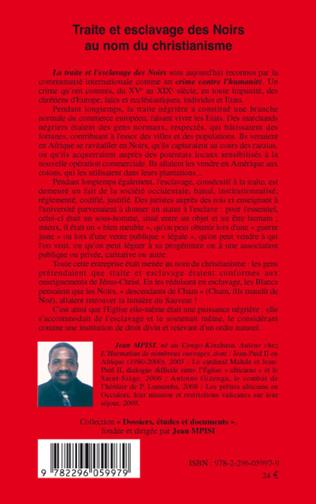4eme Traite et esclavage des Noirs au nom du christianisme
