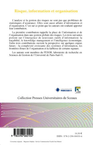 4eme Risque, information et organisation
