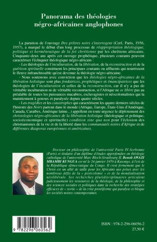 4eme Panorama des théologies négro-africaines anglophones