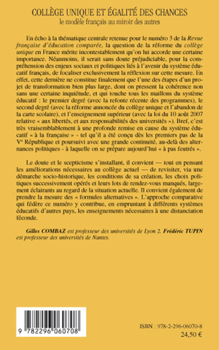 4eme Le collège unique en question(s) Entretien avec Jean-Louis Derouet