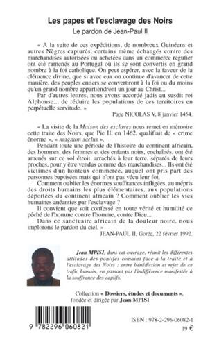 4eme Les papes et l'esclavage des Noirs