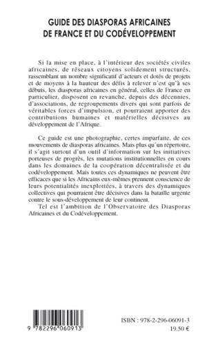 4eme Guide des diasporas africaines de France et du codéveloppement