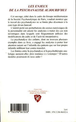 4eme Les enjeux de la psychanalyse aujourd'hui