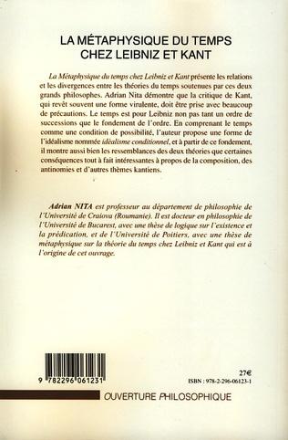 4eme La métaphysique du temps chez Leibniz et Kant