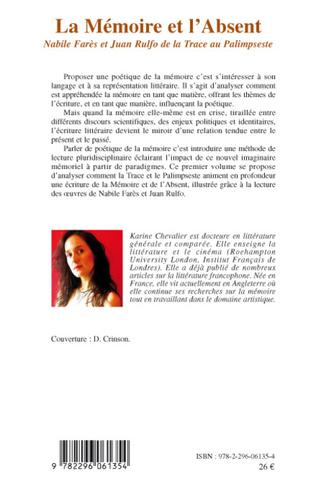 4eme La Mémoire et l'Absent