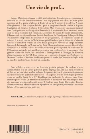 4eme Une vie de prof...