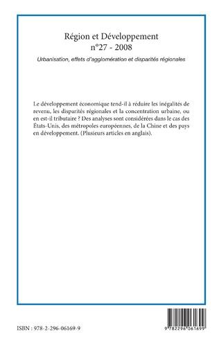4eme Urbanisation, effets d'agglomération et disparités régionales