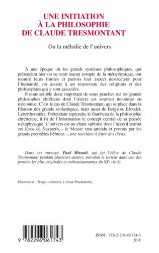 4eme Une initiation à la philosophie de Claude Tresmontant