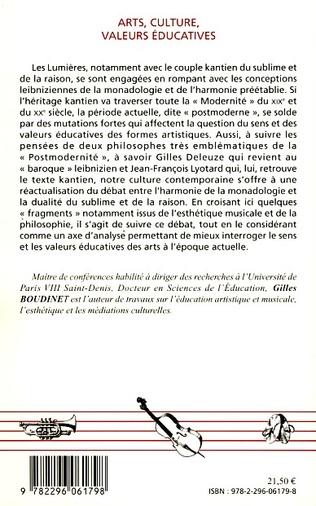 4eme Arts, culture, valeurs éducatives