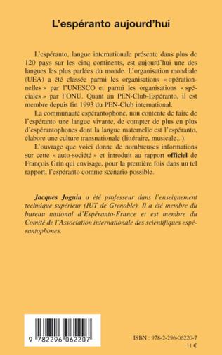 4eme L'espéranto aujourd'hui