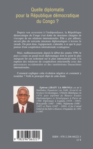 4eme Quelle diplomatie pour la République démocratique du Congo ?