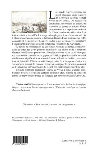 4eme Les Grandes guerres de Robert Vivier (1894-1989)