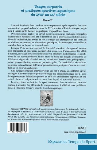4eme Usages corporels et pratiques sportives aquatiques du XVIII° au XX° siècle