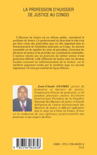 4eme La profession d'huissier de justice au Congo