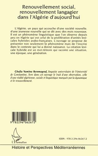 4eme Renouvellement social, renouvellement langagier dans l'Algérie d'aujourd'hui