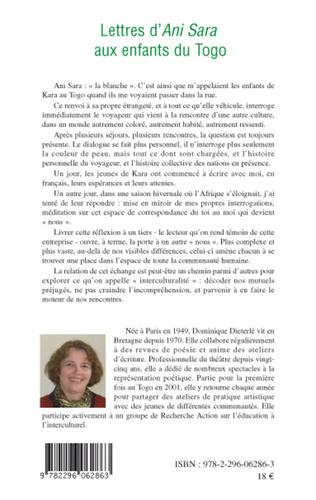 4eme Lettres d'Ani Sara aux enfants du Togo