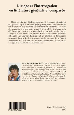 4eme L'Image et l'interrogation en littérature générale et comparée