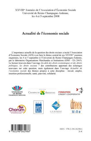 4eme ACTUALITE DE L'ECONOMIE SOCIALE