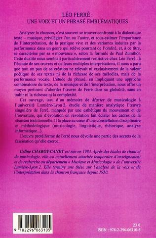 4eme Léo Ferré : une voix et un phrasé emblématiques