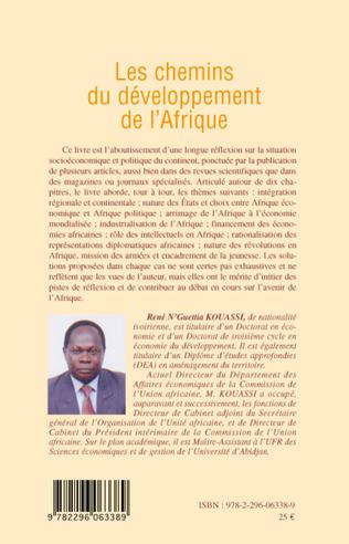 4eme Les chemins du développement de l'Afrique