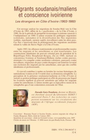4eme Migrants soudanais/maliens et conscience ivoirienne